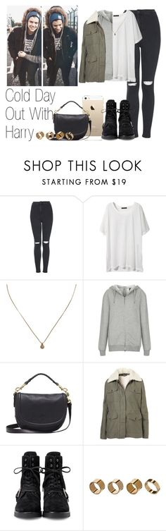 """""""Cold Day Out With Harry"""" by the4dipshits ❤ liked on Polyvore featuring Topshop, Madewell, Boutique, Mulberry, Alexander Wang and Warehouse"""