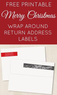 FREE PRINTABLE | Editable Wrap Around Chalkboard Return Address Labels