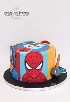 Buttercream Filling, Swiss Meringue Buttercream, Custom Cakes, Amazing Cakes, Christening, Cupcake Cakes, Spiderman, Birthdays, Birthday Cake