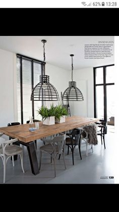 Interior Design Living Room Warm, Dining Room, Dining Table, Oak Table, Design Blogs, Living Room Colors, Scandinavian Style, Home Projects, New Homes