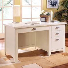 Kathy Ireland Home By Martin Tribeca Loft Single Pedestal Desk