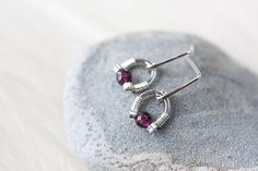 Tiny Sterling Silver Horseshoe Earrings with by CookOnStrike, $27.00