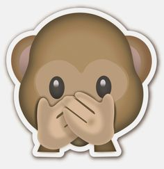 Find images and videos about emoji, monkey and surprise on We Heart It - the app to get lost in what you love. Emoji Singe, Emoticons Do Whatsapp, Emoji Symbols, Emoji Stickers, Laptop Stickers, Funny Emoji, Emoji Faces, Emoji Wallpaper, Funny Animals