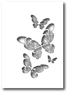 Boutique scrapbooking - Die BigShot Poppy Stamps papillons ajoures