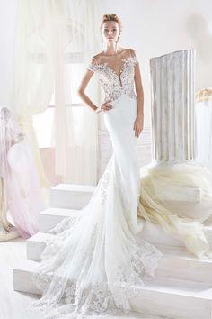 Vestido de novia recto