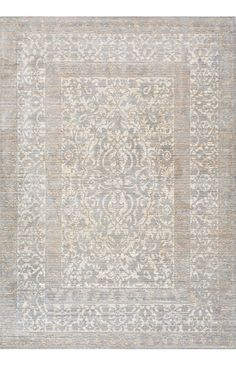 Bring in the fusion of a traditional design with a classic new color for that perfect look to your décor. This machine made rug is 100 percent polyester, which makes it light, soft and durable and comes in two beautiful shades of grey and blue.
