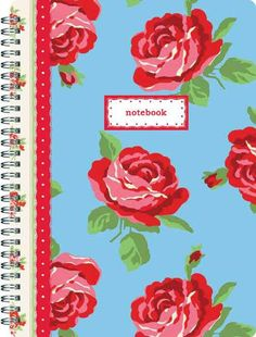 Featuring lined paper with a space for 'subject' and 'date' on each page, this pretty rose print notebook is perfect for jotting down notes and ideas.