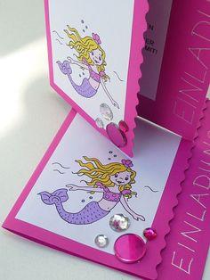 Meine grüne Wiese: Die kleine Meerjungfrau (Teil 1) Happy Birthday Girls, Birthday Parties, Birthday Kids, Water Party, Under The Sea Party, Mermaid, Wraps, Presents, Packaging