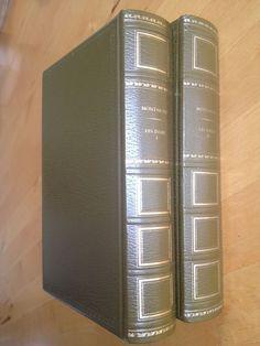 #philosophie : Les Essais De Montaigne En 2 Tomes. Texte en vieux français. 2 tomes aux éditions Rencontre, 1968, 1968. 630, 534 pp. reliées. Préface de Jean Vagne.