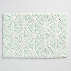 Indigo And White Medallion Printed And Tufted Bath Mat Bath Mat - Black and white tribal bath mat for bathroom decorating ideas