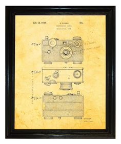 Henry Drotning Camera Patent wall covering