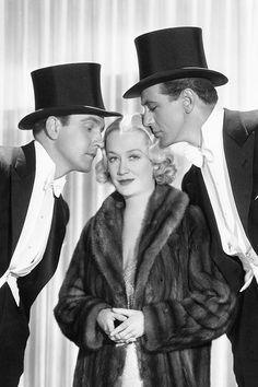Frederic March, Miriam Hopkins and Gary Cooper in Ernst Lubtisch Design for Living, 1933.