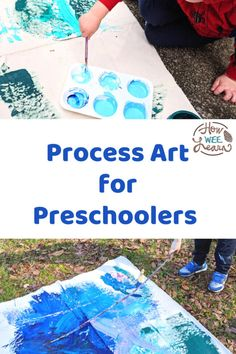 This process art for preschoolers project got my little one outside painting for 2 whole hours! Such fun, creative, inhibited play time Preschool Arts And Crafts, Preschool Age, Play Based Learning, Kids Learning Activities, Outside Paint, Painted Sticks, Process Art, Mark Making, Craft Projects