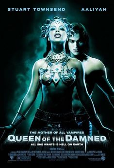 Queen of the Damned Poster Movie Spanish 11 x 17 In - x Aaliyah Stuart Townsend Marguerite Moreau Vincent Perez Lena Olin Paul McGann Scary Movies, Great Movies, Hd Movies, Horror Movies, Movies Online, Halloween Movies, Watch Movies, Horror Music, Movies Free