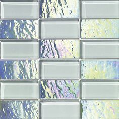 Mineral Tiles - Iridescent and Clear Glass Mosaic Tile Blend Diamond, $18.49 (https://www.mineraltiles.com/iridescent-and-clear-glass-mosaic-tile-blend-diamond/)