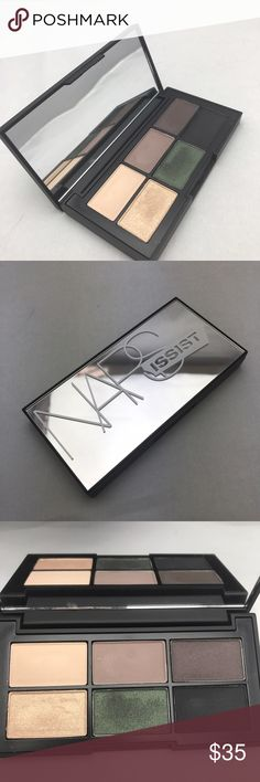 NARS Hardwired Eyeshadow Palette Six beautiful shadows that can create day to night looks. Using champagne to dark grays with a pop of green. Used once.                                                                                 ❣️Sanitized with BeautySoClean.                                       ✨10% off if you bundle 3 items from my closet ✨ NARS Makeup Eyeshadow