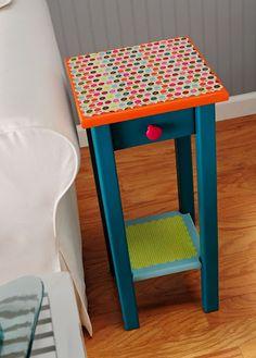 New diy table top modge podge decoupage furniture ideas