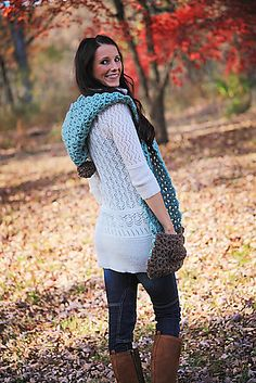 Ravelry: Project Gallery for Blue Dream Scarf Hoodlet with Pockets Crochet Pattern pattern by Jackie Moon
