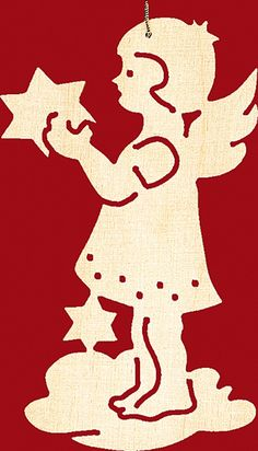 Taulin Baumbehang Weihnachten 4 er Set: Engel Paper Cutting, Diy Crafts And Hobbies, Scandinavian Christmas, Xmas Ornaments, Scroll Saw, Wooden Toys, Snowflakes, Origami, Stencils