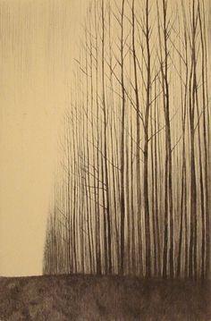 戸村 茂樹/Shigeki Tomura could use for painting on the dresser Japanese Prints, Japanese Art, Inspiration Art, Land Art, Tree Art, Asian Art, Painting & Drawing, Printmaking, Art Photography