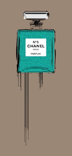 Chanel Liquidated Bottle Print