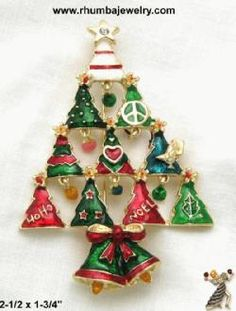 Contemporary Christmas Tree Pin