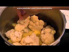 ▶ Crema de coliflor al curry - Recetas para olla express - YouTube