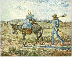 Morning: Peasant Couple Going to Work (after Millet) by Vincent Van Gogh - 324