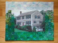 Your home in fabric by KathleenMurphy on Etsy, $300.00