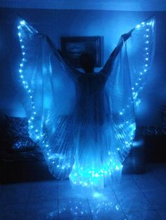 SALE!! Belly Dance Led Light Isis Wings, Belly Dance Costumes, Led Wings A4 #Handmade