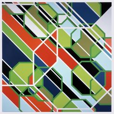 Sarah Morris Painting Sony Los Angeles Geometric Abstract Art