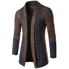 $15.62 Space Dye Contrast Panel Open Front Cardigan