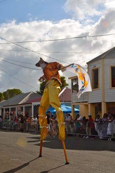 Mocko Jumbie - St. Croix US Virgin Islands Crucian Christmas Festival 60th Anniversary Adult Parade 2013