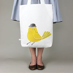 Bird About Town Tote Bag - bags & purses