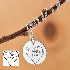 Handwritten Necklace, Handwritten Jewelry, Engraved Necklace, Engraved Jewelry, Personalized Necklace, Bridesmaid Gift, Best Friend, Sister by JubileJewel on Etsy