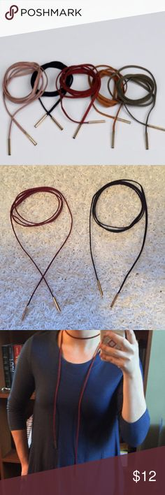 Host Pick 11/15 Black &Burgundy Faux Suede Chokers Price is per Choker. Please select color when checking out. Retail prices firm unless bundled, no trades or pp. URB2001028 Jewelry Necklaces