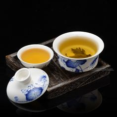 Chinese Bone china Lotus Painted Gaiwan Tea Set Entry-level