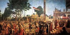ヴィトーレ・カルパッチョ「巡礼者たちの殉教と聖ウルスラの埋葬」(1497–98)