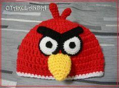 Gorro angry bird rojo - tus peques estarán encantadores con éste divertido gorro de uno de los personajes más queridos para los niños... además, es calentito y confortable ¡¡No se lo querrán quitar!!