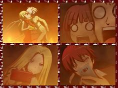Nagisa, Kaede, Karma, Nakamura, kissing, photos, pictures, cellphones, funny, fire, Assassination Classroom; Photo Collages