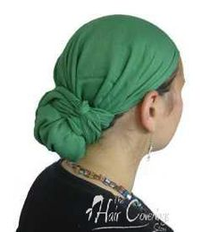 Solid Grassy Green Head Scarves
