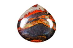 Zebra Tiger Eye cabochon by Fabbydabbystones on Etsy.
