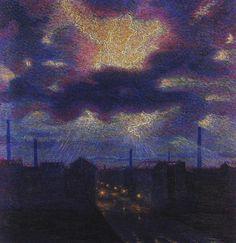 I lampi - Luigi Russolo - Futurism, Divisionism, 1910