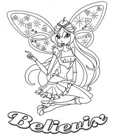 Winx Club Was Sitting Coloring Pages