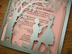 zaproszenia ślubne z kolekcji Spotkanie wzór 3 |   Zaproszenia ślubne laserowe, kartki 3D