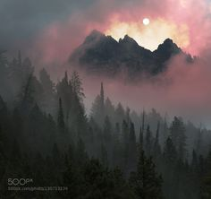 Afternoon Fog on the Tetons by wyoavalanche  Brad Cheese Fog Mountain Weather Wyoming beautiful clouds light sky Afternoon Fog on the Tetons wyoa