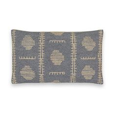 Funda de cojín bordada almadina gris oscuro La Redoute Interieurs | La Redoute Striped Cushions, Cushions On Sofa, Throw Pillows, Cushion Pads, Cushion Covers, Fabric Rug, Cotton Fabric, Red Couch Living Room, Home Furnishing Accessories
