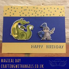 happy birthday to my hunny bunny. Magical day, Magical mates dies, Stampin' Up! blends colouring