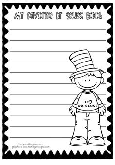 Dr. Seuss writing freebie