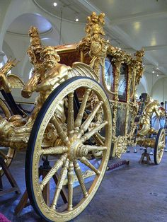 Coronation Coach at the Royal Mews in London